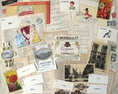 French Themed Ephemera Pack All Vintage 42 Pieces Mixed Media Supplies France