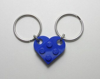Two Halves Make a Whole Heart- Set of Keychains
