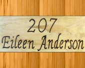 Address signs house office lodge American made Virginia crafted