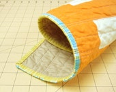 Modern Pet/Crib Quilt - SALE - Creamsicle Bricks
