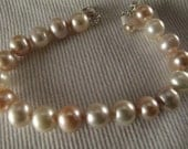 Multi-colored Freshwater Cultured Pearl Bracelet
