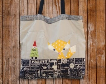 Fox and Gnome Tote Bag Pattern