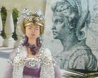 Zenobia Doll Historical Roman Miniature Art Collectible