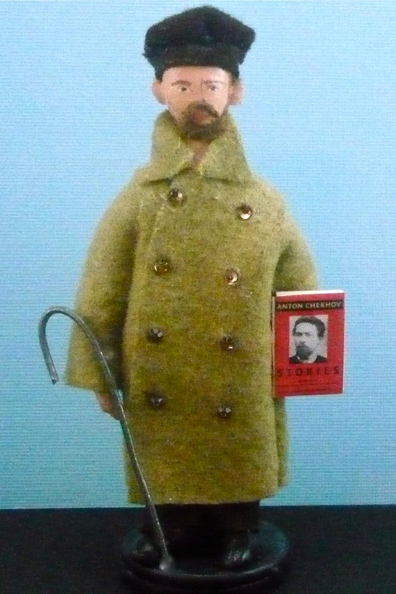 Miniature Doll Anton Chekov Russian Author and Writer