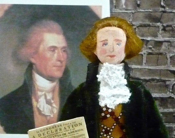Thomas Jefferson Historical American President Collectible Miniature Doll