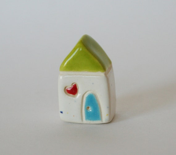 Black Friday Cyber Monday Little Happy Cottage Green white green blue red Miniature House