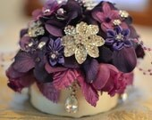 Purple cake topper -- made to order