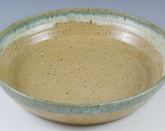 Handmade Pottery Baker, Pottery Serving Bowl, Centerpiece Bowl Gift, 8 Inch Baking Bowl, Large Bowl Fruit Bowl,Kitchen Gift, Large Prep Bowl