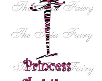 Pink Zebra stripes princess crown Birthday Shirt name age t-shirt 1st 2nd 3rd 4th 5th shirt baby toddler
