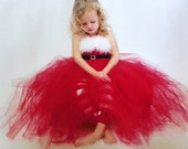christmas tutu gown, toddler to girl, Mrs. Claus, Punkydoo Kids