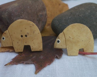 Little Gourd Bears - Fun, Whimsical Buttons