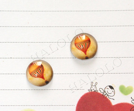 Sale - 10pcs handmade balloon round clear glass dome cabochons 12mm (12--0302)