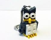 Mini Dark Gray Owl Key chain