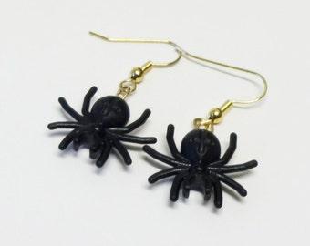 Mini Spider Dangle Earrings