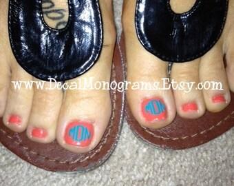 Toe Nail Monograms 6 matching