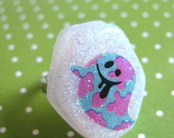 Halloween Pink And blue Ghost Resin Ring