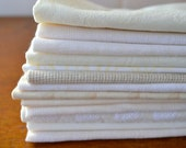 Shades of White Cloth Napkins, set of four by Dot and Army