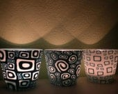 Set of 3 Art Decor Looking Candle Holders...