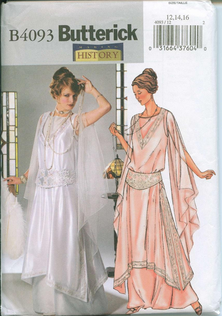 Butterick 4093 Out of Print Flapper Dress Costume Sewing