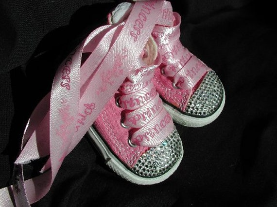 Little Baby Pink High Top Converse Sneakers By Luvswoodencars2