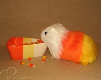 READY TO SHIP - Big Candy Corn Guinea Pig Plushie