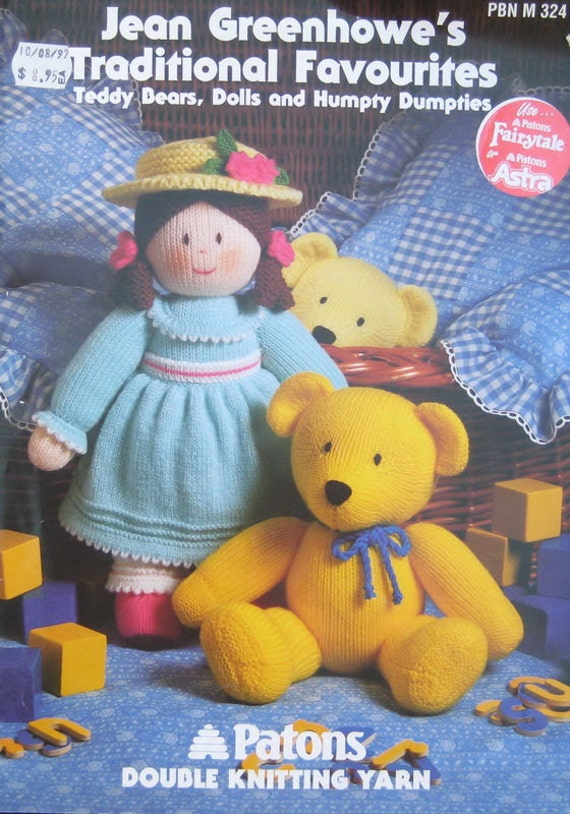 Jean Greenhowes Doll Knitting Toys Pattern Book