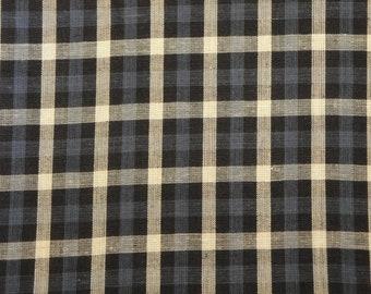 Check Material | Homespun Material | Sewing Material | Cotton Material | Material By The Yard |  Blue Check Material  | 31 x 44