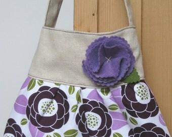 little girls purse toddler handbag tote in purple Joel Dewberry