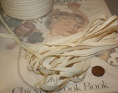"Vintage Cotton Tape Woven Ribbon Trim for Scrapbooking, Tags 1/4""  6 yd.  VT001"