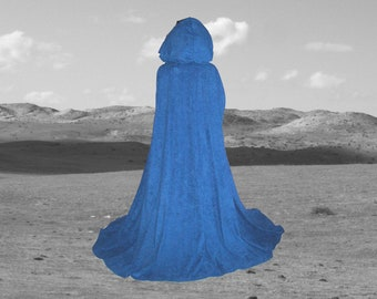 Blue Ocean Hooded Cloak - Cape -Renaissance - Gothic- Medieval -Wedding Halloween Costume