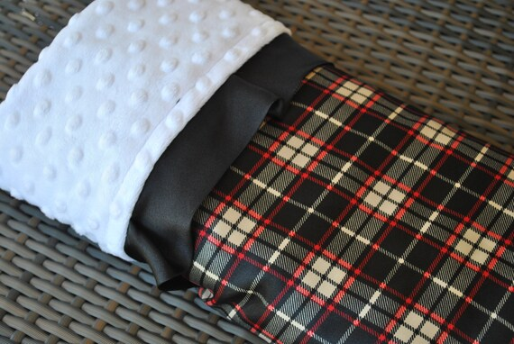 Items Similar To Ben Baby Blanket Black And Red Plaid
