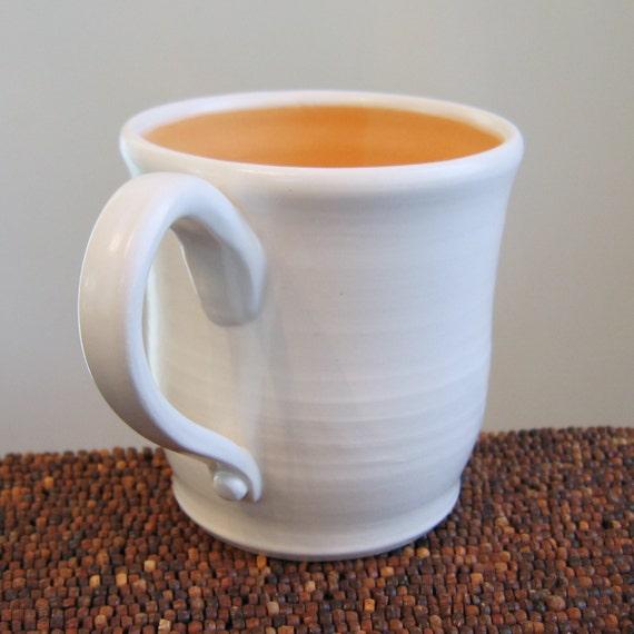 Large Creamsicle Mug 18 oz Stoneware Pottery Coffee Mug