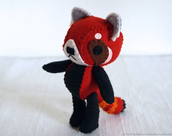 Red Panda Plush Art Doll, Ruby (Made to Order)