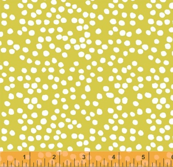 Bella---Mini Dot in Sunspray---1 yard--Lotta Jansdotter for Windham Fabrics