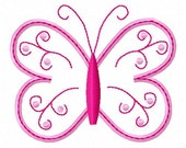 Satin or Rag edge Embroidery Design - Applqiue Butterfly3 -4x4  hoop size- INSTANT DOWNLOAD -