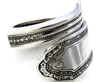 Spoon Ring Wrapped Romance Demitasse Choose Your Size 5 - 8