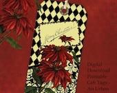 DIY Christmas Gift Tag Set - An Urban Victorian Christmas Instant Download Printable Files