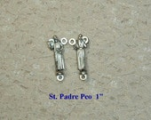 Silver Saint Padre Pio Rosary Making Center Parts Supplies