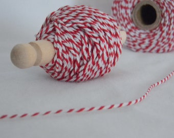 25 yards bakers twine red and white