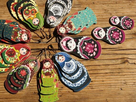 Necklace - Matryoshka Jewelry - Matryoshka - Russian Doll - Charms ...