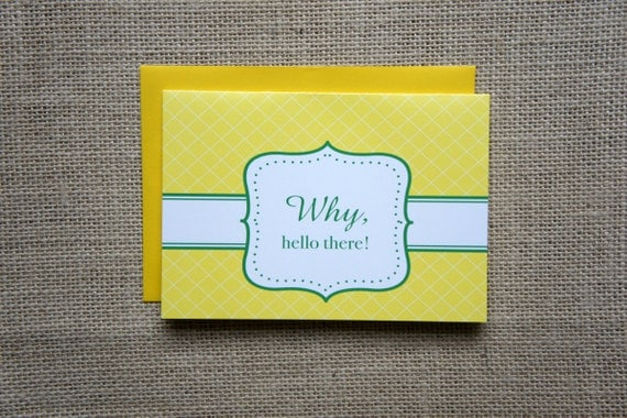 SALE Hello There Note Cards