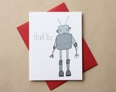 Robot Thank You Cards - Set of 8 Note Cards