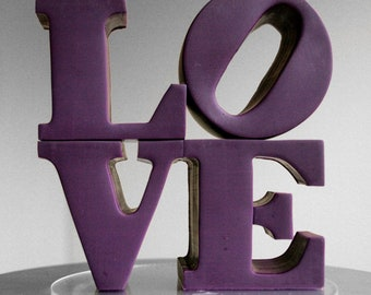 custom color philadelphia love wedding cake topper