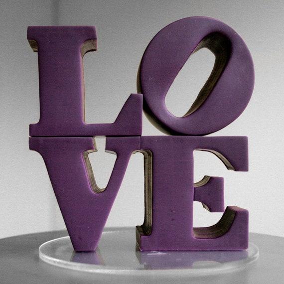 custom color philadelphia love wedding cake topper