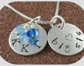 Kappa Kappa Gamma Sorority Necklace-Sterling Silver Big Sis Lil Sis Greek Letters-Kappa Kappa Gamma Jewelry-OLP