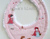 RARE - Hard to Find Fabric - Last One  ORIGINAL Little Drooler Bib - Perfect for your Teething Baby or Baby that Spits Up - Red Riding Hood