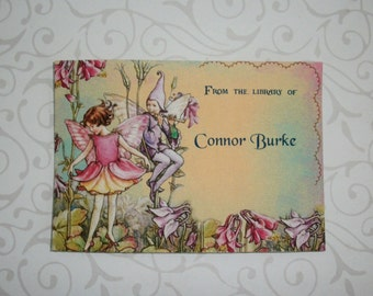 FAIRIES - BOOKPLATES - Made to order - Boys and Girls - Custom -  Set of 12 - Stocking Stuffers - Self-Adhesive - FB 34