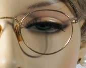 Vintage 40s Bausch and Lomb B&L  Marshwood Ful Vue Style Etched Eyeglasses 12 KGF - alleycatsvintage