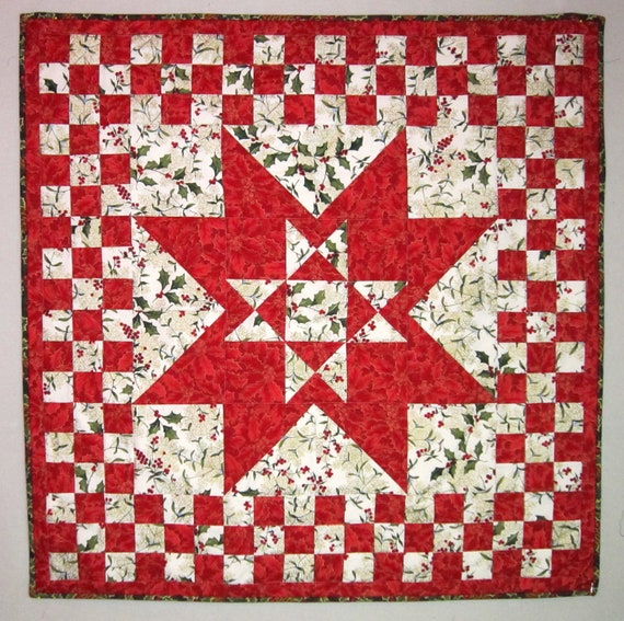 SUPER SALE Bethlehem Star Christmas Quilt from Quilts by Elena