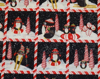Candy Cane Penguins Pillowcase